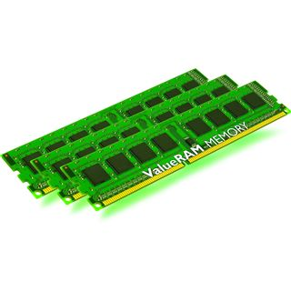 12GB Kingston ValueRAM DDR3-1066 regECC DIMM CL7 Tri Kit