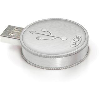 8 GB LaCie CurrenKey silber USB 2.0