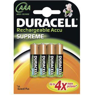 Duracell Supreme HR03 Nickel-Metall-Hydrid 1000 mAh 4er Pack