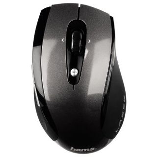 Hama Wireless M3110 Laser Maus Schwarz USB