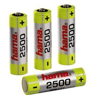 Hama HR6 AA / Mignon Nickel-Metall-Hydrid 2500 mAh 4er Pack