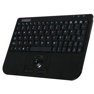 Perixx Periboard 709 Trackball Wireless Tastatur Schwarz Deutsch USB