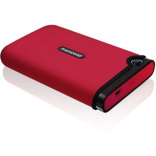 """160GB Transcend StoreJet 25 Mobile 2.5"""" (6.35cm) Rot USB2.0"""