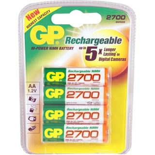 GP Batteries Akkus AA / Mignon Nickel-Metall-Hydrid 2700 mAh 4er Pack