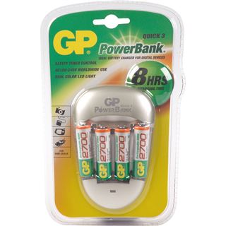 GP Batteries Akku Ladegerät PowerBank Quick3 +