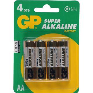 GP Batteries Batterie GP Alkaline AA 4er Pack