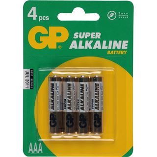 GP Batteries Batterie GP Alkaline AAA 4er