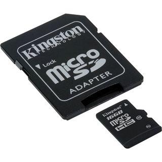 16 GB Kingston Standard microSDHC Class 10 Retail inkl. Adapter