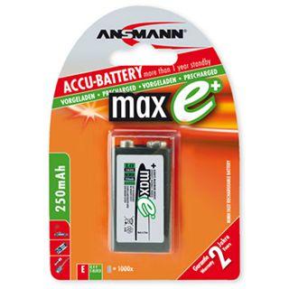 ANSMANN maxE 9V / E Block Nickel-Metall-Hydrid 270 mAh 1er Pack