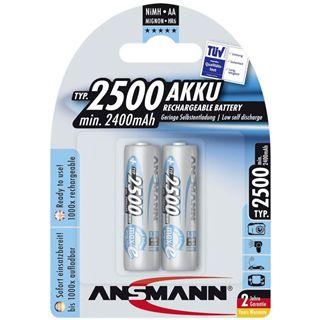ANSMANN maxE AA / Mignon Nickel-Metall-Hydrid 2500 mAh 2er Pack