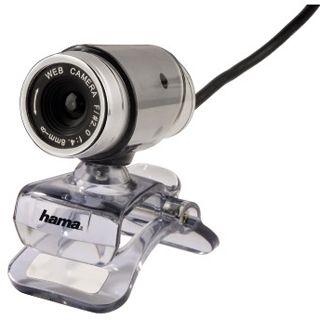 Hama Web Kamera 53926 CM-310 MF 0.3 MPixel 640x480 Silber USB 2.0
