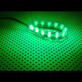 LAMPTRON 12cm grünes LED-Strip mit 12 LEDs für 4-Pin Molex (LAMP-LEDFL1203)