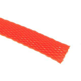 (€4,90*/1m) King Kits 1.00m Gewebeschlauch 9mm Neon Rot