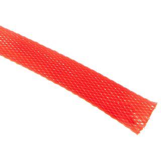 (€4,90*/1m) King Kits 1.00m Gewebeschlauch 13mm Neon Rot