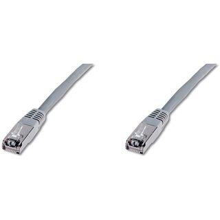 (€0,43*/1m) 30.00m Digitus Cat. 5e Patchkabel FTP RJ45 Stecker auf RJ45 Stecker Grau Knickschutzelement