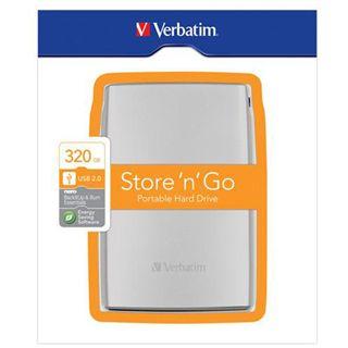 "320GB Verbatim Store and Go Portable 53001 2.5"" (6.4cm) USB 2.0 silber"