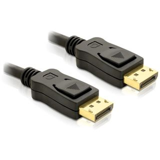 (€8,90*/1m) 1.00m Delock Displayport 1.2 Anschlusskabel Displayport Stecker auf Displayport Stecker Schwarz vergoldet