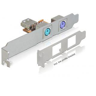 Delock Slotblech USB > 2 x PS/2, 61589