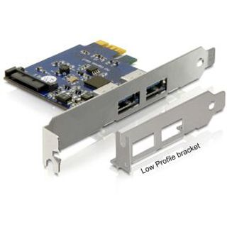 DeLock PCI Express Karte > 2 x USB 3.0, 89246