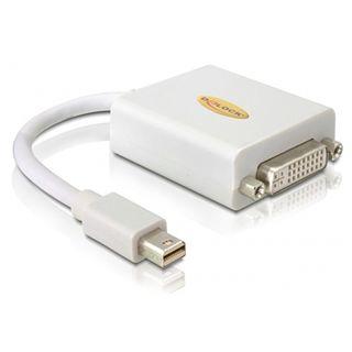 (€109,00*/1m) 0.10m Delock Displayport Adapterkabel Mini Displayport Stecker auf DVI 24+1 Buchse Schwarz
