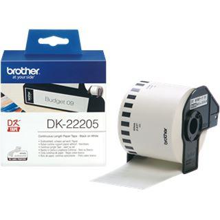Brother DK-22205 Endlosetiketten (1 Rolle ( 6.2cm x 30.48 m) )