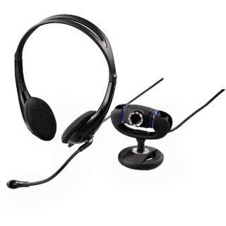 Hama Web Kamera 53924 Set III 1.3 MPixel 1280x1024 Schwarz USB 2.0 inkl. Headset