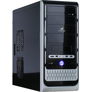 ATX Cooltek K-Series K2 Rev.B Midi Tower o.NT Schwarz/Silber