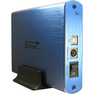 "Inter-Tech SinanPower G-3500 3.5"" (8,89cm) USB 2.0 blau/silber"