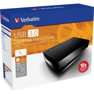 "1000GB Verbatim Desktop Hard Drive 47658 3.5"" (8.9cm) USB 3.0 schwarz"