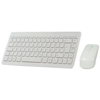 Perixx Cordless Desktop Periduo 707 Mini Tastatur+Maus Weiß Deutsch USB