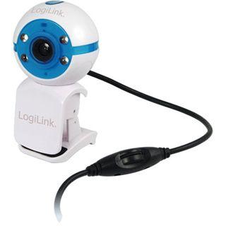 LogiLink Web Kamera UA0075 1.3 MPixel 800x600 Weiß/Blau USB 2.0