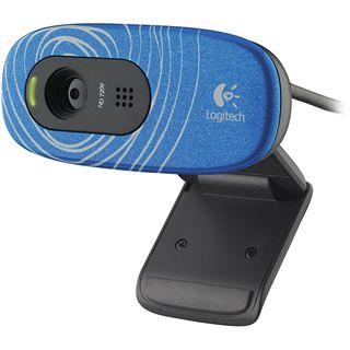 Logitech Web Kamera C270 Swirl 3 MPixel 1280x720 Blau USB2.0