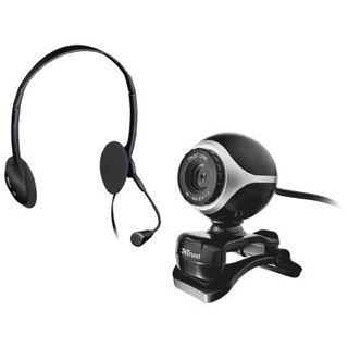 Trust Exis Chatpack schwarz Webcam USB