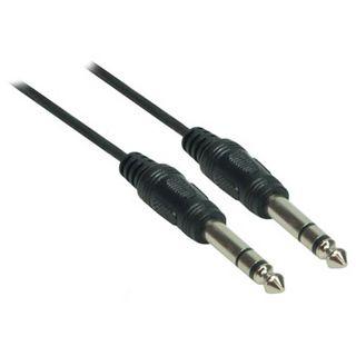 (€2,60*/1m) 1.50m Good Connections Audio Anschlusskabel Standard 6.3mm Klinke Stecker Stereo auf 6.3mm Klinke Stecker Stereo Schwarz