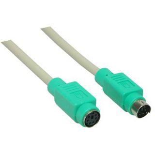 2.00m Good Connections PS/2 Verlängerungskabel PS/2 Stecker auf PS/2 Buchse Grau