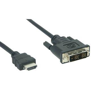 (€3,83*/1m) 1.80m Good Connections DVI-D Anschlusskabel 19pol HDMI Stecker auf DVI 18+1 Stecker Schwarz/Grau