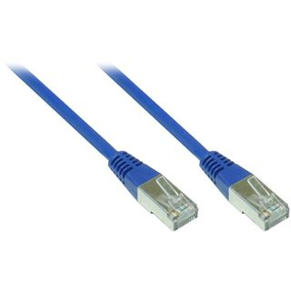 20.00m Good Connections Cat. 5e Patchkabel FTP RJ45 Stecker auf RJ45 Stecker Blau