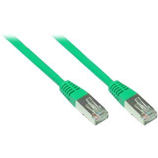 10.00m Good Connections Cat. 5e Patchkabel F/UTP RJ45 Stecker auf RJ45 Stecker Grün