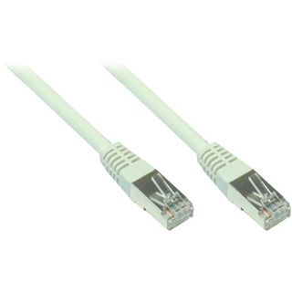 (€0,98*/1m) 5.00m Good Connections Cat. 5e Patchkabel F/UTP RJ45 Stecker auf RJ45 Stecker Grau