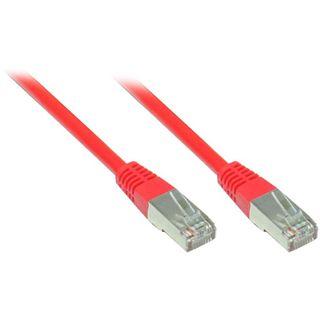 (€7,80*/1m) 0.50m Good Connections Cat. 5e Patchkabel F/UTP RJ45 Stecker auf RJ45 Stecker Rot