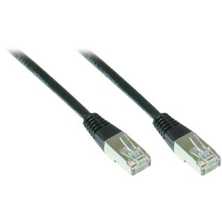 30.00m Good Connections Cat. 5e Patchkabel FTP RJ45 Stecker auf RJ45 Stecker Schwarz