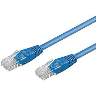 50.00m Good Connections Cat. 5e Patchkabel UTP RJ45 Stecker auf RJ45 Stecker Blau