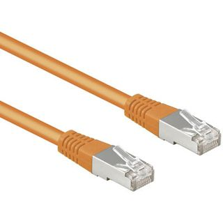 20.00m Good Connections Cat. 5e Patchkabel UTP RJ45 Stecker auf RJ45 Stecker Orange