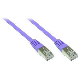 1.00m Good Connections Cat. 5e Patchkabel FTP RJ45 Stecker auf RJ45 Stecker Violett