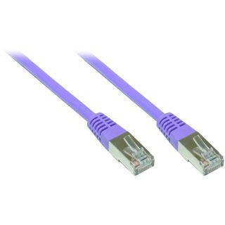2.00m Good Connections Cat. 5e Patchkabel FTP RJ45 Stecker auf RJ45 Stecker Violett