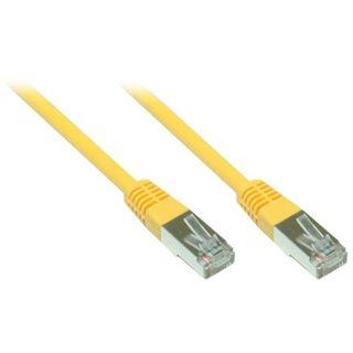 7.50m Good Connections Cat. 5e Patchkabel FTP RJ45 Stecker auf RJ45 Stecker Gelb
