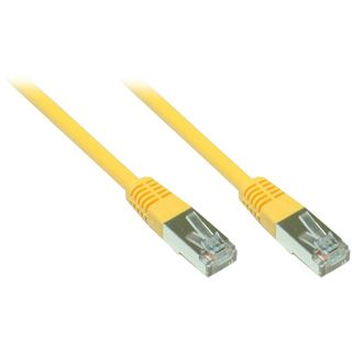 (€0,69*/1m) 10.00m Good Connections Cat. 5e Patchkabel F/UTP RJ45 Stecker auf RJ45 Stecker Gelb