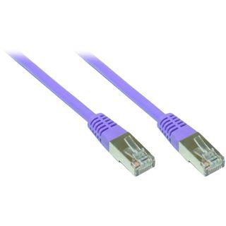(€3,90*/1m) 1.00m Good Connections Cat. 6 Patchkabel S/FTP PiMF RJ45 Stecker auf RJ45 Stecker Violett