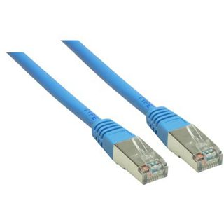 (€0,98*/1m) 5.00m Good Connections Cat. 6 Patchkabel S/FTP PiMF RJ45 Stecker auf RJ45 Stecker Blau
