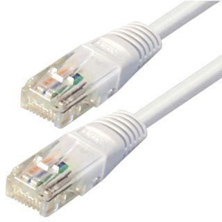 (€0,98*/1m) 5.00m Good Connections Cat. 6 Patchkabel S/FTP PiMF RJ45 Stecker auf RJ45 Stecker Weiß